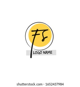 F S FS Initial logo template vector
