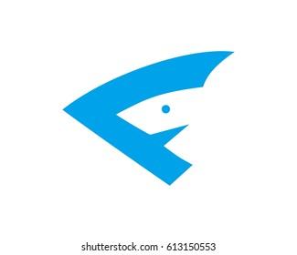 F shark logo