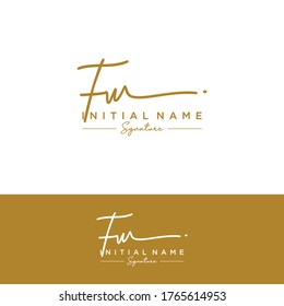 F W FW Initial letter handwriting and signature logo.