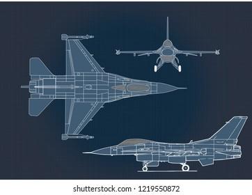 F-16 Fighting Falcon Blueprint