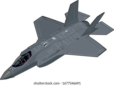 F-35 Lightning II military stealth fighter