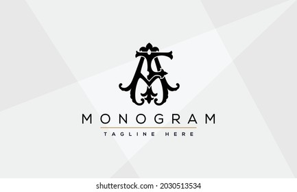 FA, AF Abstract initial monogram