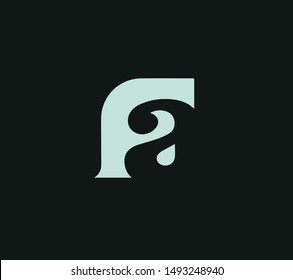 FA or AF or F or A abstract monogram letter mark logo vector template