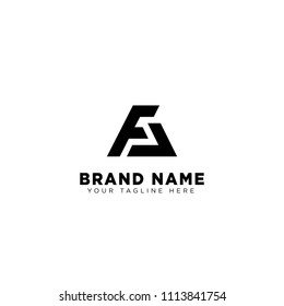fa letter logo type template vector illustration
