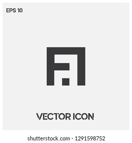 """""""FA"""" typographic logo vector.Modern """"FA"""" or """"AF"""" letter vector icon.Premium quality."""