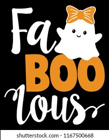 Fab Boo Lous Shirt Funny Halloween Ghost T-shirt Gift Vector Graphic Design