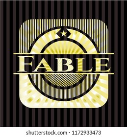 Fable gold badge or emblem