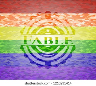 Fable lgbt colors emblem