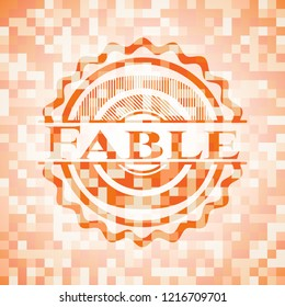 Fable orange mosaic emblem