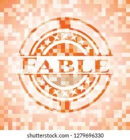 Fable orange mosaic emblem