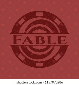 Fable realistic red emblem