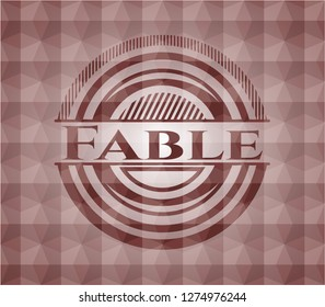Fable red geometric emblem. Seamless.