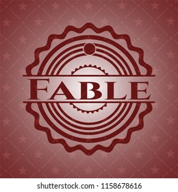 Fable retro style red emblem
