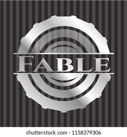 Fable silvery emblem or badge