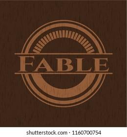 Fable vintage wooden emblem