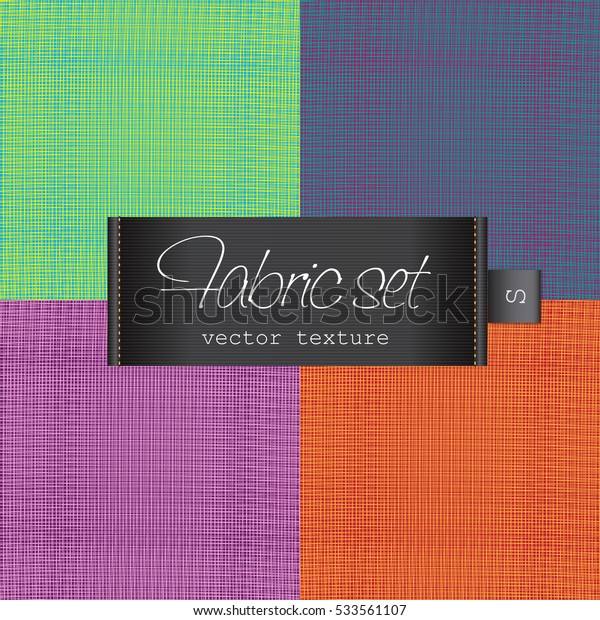 Fabric elegant black tag illustration label template colorful set textile