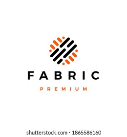 fabric logo vector icon illustration