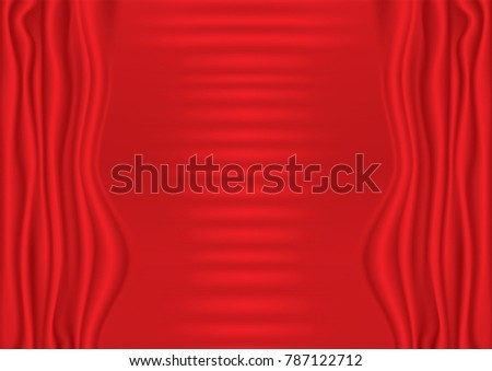 Fabric Red Background Valentines Day Theme Stock Vector Royalty