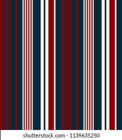 Fabric retro color style seamless stripe pattern. Abstract stripe pattern vector background.