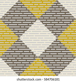 Fabric swatch of tartan. Seamless pattern. For web design, gift wrap, printing on fabric, paper.