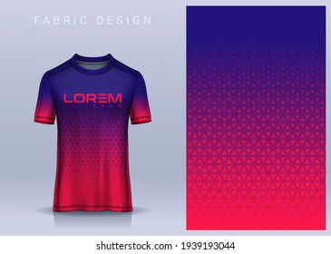 Fabric textile for Sport t-shirt ,Soccer jersey mockup for football club. uniform front view.