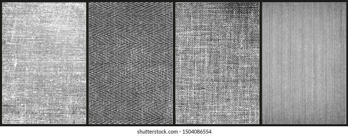 Fabric textures. Set of 4 high quality textures