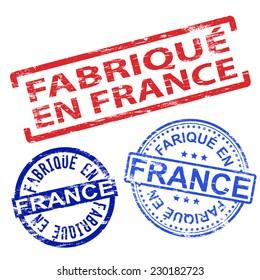 Fabrique en France. Rubber stamp vector illustrations