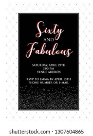 60th Party Invitation Stock Illustrations Images Vectors