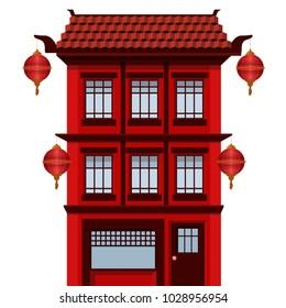 Facade of asian house