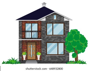 Two Story Residential Buildings Images Stock Photos