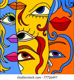 face abstract