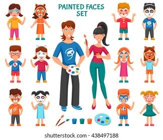 Kids Face Paint Stock Illustrations Images Vectors Shutterstock