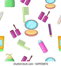 Face care pattern. Cartoon illustration of face care vector pattern for web