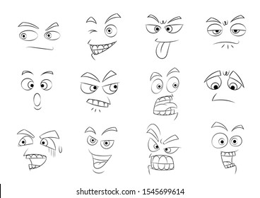 Face cartoon character vector illustration