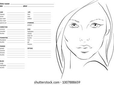 Face Chart Images, Stock Photos & Vectors | Shutterstock