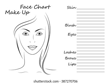 Pleasing Face Chart Makeup Artist Blank Template Stock Vector Royalty Free Wiring Digital Resources Nekoutcompassionincorg