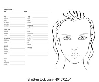 photograph relating to Printable Face Charts identified as Make-up Deal with Chart Photographs, Inventory Pics Vectors Shutterstock