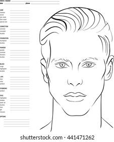 picture about Makeup Face Template Printable known as Deal with Chart Pictures, Inventory Visuals Vectors Shutterstock