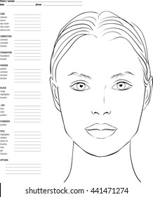 image about Makeup Face Template Printable titled Deal with Chart Pics, Inventory Visuals Vectors Shutterstock