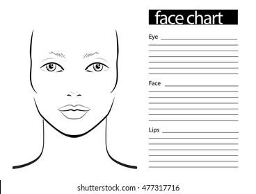 Face chart makeup artist blank template stock vector 404091133 face chart makeup artist blank template vector illustration maxwellsz