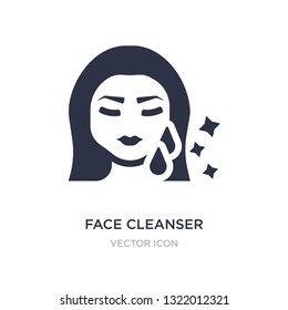 face cleanser icon on white background. Simple element illustration from Beauty concept. face cleanser sign icon symbol design.