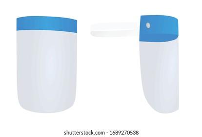 Face cover shield. vector illustration