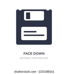 face down floppy disk icon on white background. Simple element illustration from Tools and utensils concept. face down floppy disk icon symbol design.