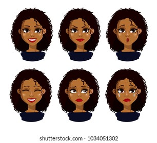 Smiling Black Woman Glasses Stock Vectors Images Vector Art