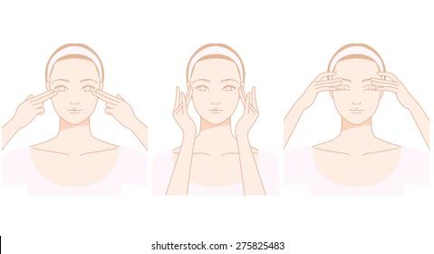 Face, eyes of self massage