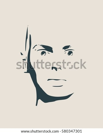 face front view elegant silhouette female stock vector royalty free