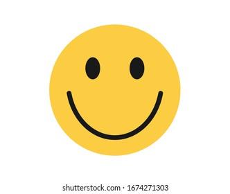 Face icon. Simple emotion icon.  Smile icon