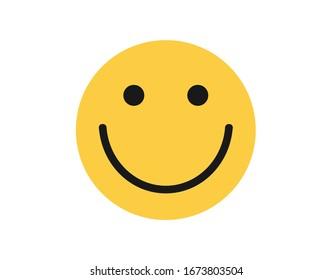 Face icon. Simple yellow face icon.  Smile icon.