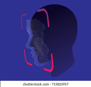 face ID scan vector