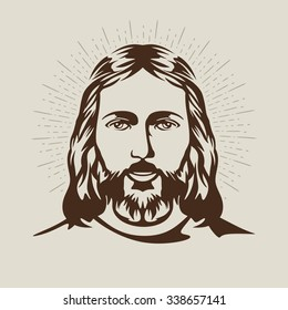 Face of Jesus. Hand drawn art